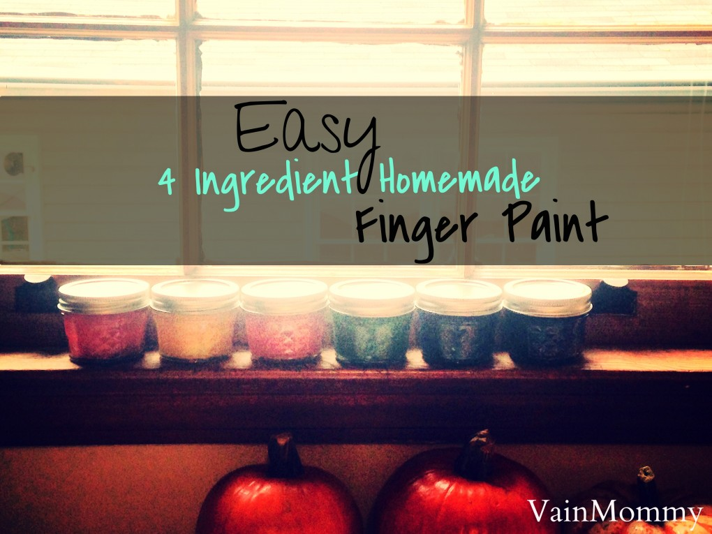 Homemade Finger Paint For Babies and Toddlers