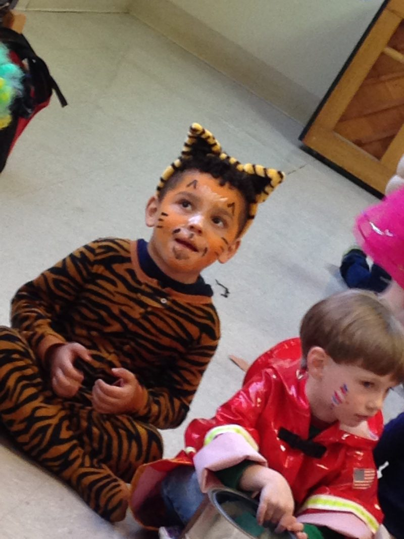 Tiger Costume face paint