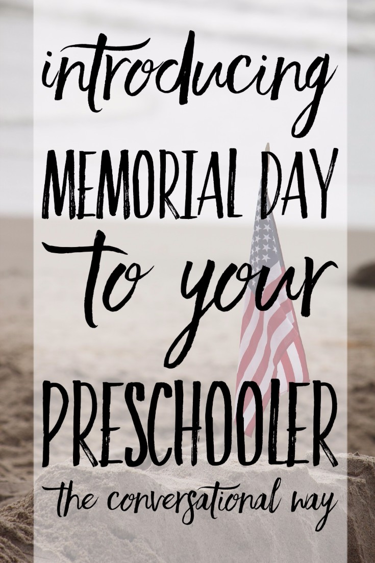 I love this! Ways to celebrate memorial day with your child. Using the conversational method . I