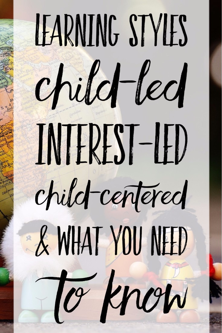 Learning Styles.Wow! I thought I was Child-Led...but NO! we are Child-centered homeschool preschool