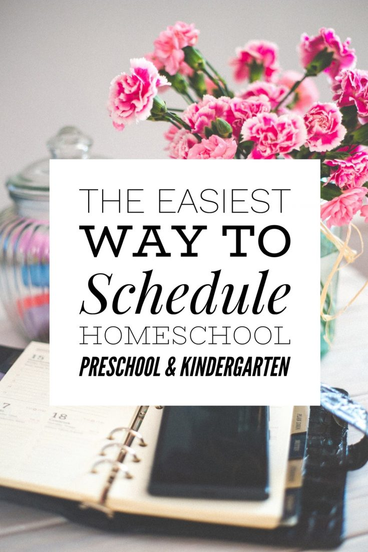 How to schedule your homeschool day for younger children