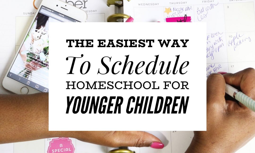 Easy Homeschooling Schedule For Kindergarten